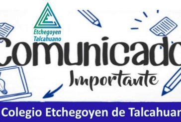 Comunicado Etchegoyen